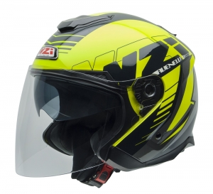 Casca open face NZI Avenew 2 Duo, Prova Yellow/Black