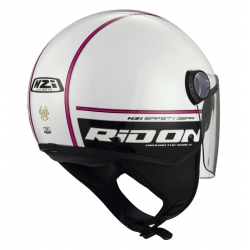 Casca open face NZI Capital 2 Duo, Ridon White Pink