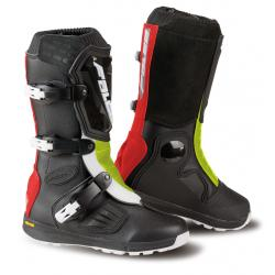Cizme mx/enduro copii Falco Lion Kid 2.1, Vibram, D3O<sup>&reg;</sup>, Black/Red/Fluo