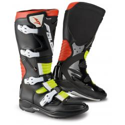 Cizme mx/enduro Falco Drake 2.1, D3O<sup>&reg;</sup>, Black/Red/Fluo