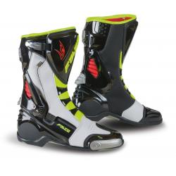 Cizme racing Falco Eso Lx 2.1, D3O<sup>&reg;</sup>, Black/White/Red/Fluo