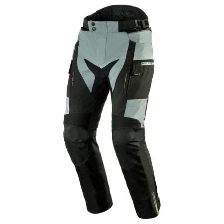 Pantaloni touring Rebelhorn Cubby III, 4 in 1, Grey/Black/Fluo