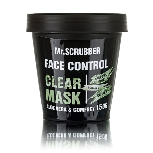 Mască purificatoare preparată din argilă albă cu extract de aloe vera și tătăneasă - Clear Mask, 150g