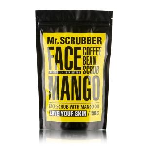 Scrub pentru ten cu cafea, unt de Shea și 4 uleiuri prețioase - Mango Face Scrub, 150g
