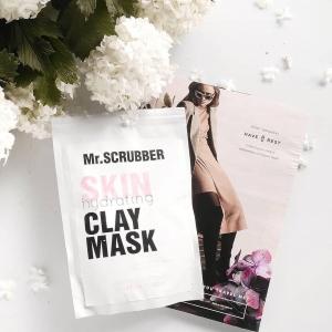 Mască hidratantă din 3 argile cu extract de bujor și pudră de perle - Skin Hydrating Clay Mask, 100g