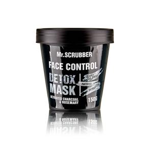 Mască detoxifiantă preparată din argilă albă cu cărbune activ și ulei de rozmarin - Detox Mask, 150gr