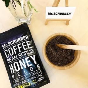 Scrub de corp cu cafea și aromă de pepene galben - Honey Melon, 200g
