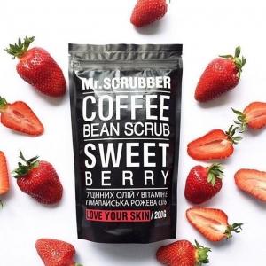 Scrub de corp cu cafea Sweet Berry, 200g