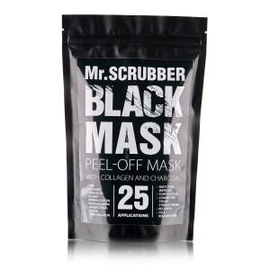 Mască peel-off cu cărbune activ și colagen marin pentru Zona-T - Black Mask, 40g