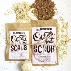 Scrub pentru ten sensibil cu zahăr, fulgi de ovăz și 6 uleiuri prețioase - Oats Face Scrub, 150g