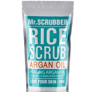 Scrub de corp cu orez și ulei de argan - Rice Scrub Argan Oil, 200g