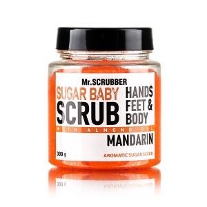 Scrub de corp cu zahăr și aromă de mandarine Mandarin Sugar Scrub, 300g