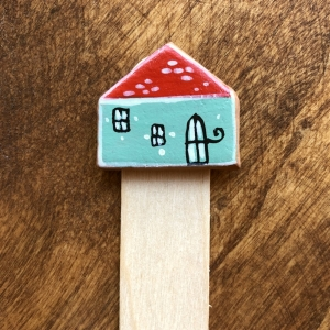 Semn de carte Little Houses model 1