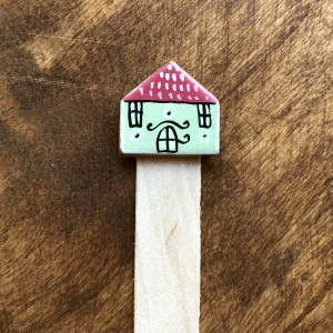Semn de carte Little Houses model 10