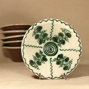 Bol alb verde Ø 15 cm model 1