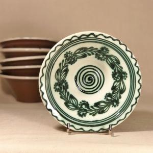 Bol alb verde Ø 15 cm model 2