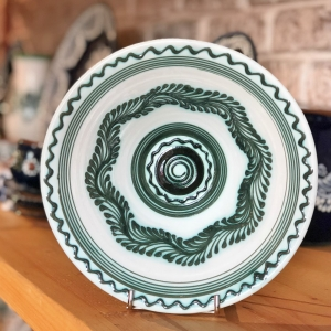 Bol alb verde Ø 19 cm model 1