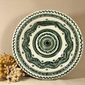 Castron alb-verde 29 cm model 10