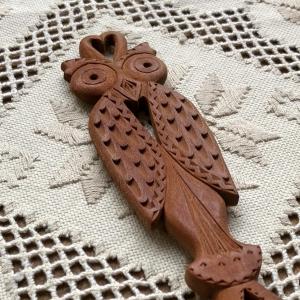 Lingură lemn cireș - Bufnița