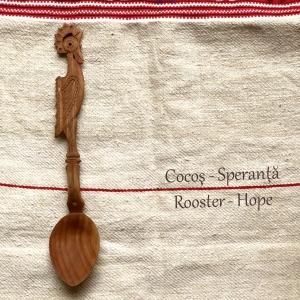 Lingură lemn cireș - Cocoșul