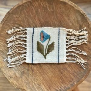 Carpetă 10x10 cm motiv Clopoțel bleu