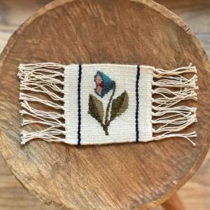 Carpetă 10x10 cm motiv Clopoțel bleumarin