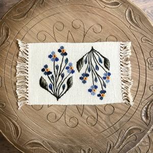 Carpetă 35x20 cm motiv flori de câmp albastre