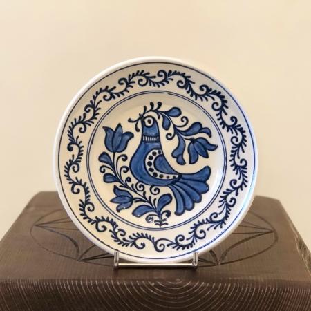Farfurie alb-albastră Ø 16 cm model 10