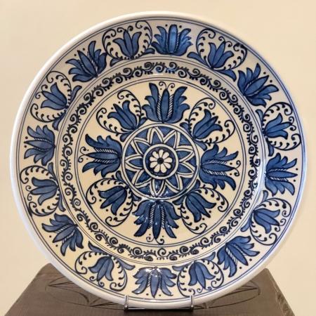 Farfurie alb-albastră Ø 28 cm model 40