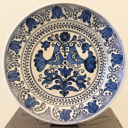 Farfurie alb-albastră Ø 29 cm model 10