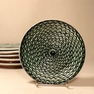 Farfurie alb verde Ø 14 cm model 1