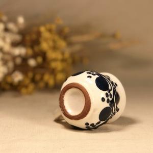 Pahar țuică alb albastru model 1