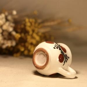 Pahar țuică alb maro model 13