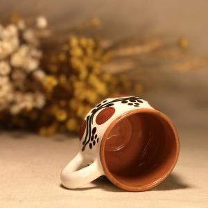 Pahar țuică alb maro model 12