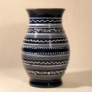 Vază albastră 20 cm model 1