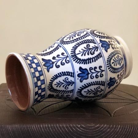 Vază alb-albastră model 2