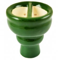 Creuzet cu doua compartimente Split narghilea, 6 cm, verde