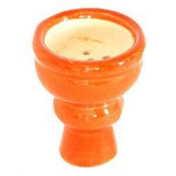 Creuzet (vatra ceramica) narghilea, 5 cm, portocaliu