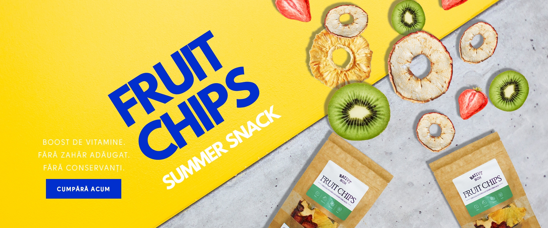 Chipsuri de fructe deshidratate