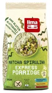 Porridge Express cu matcha si spirulina fara gluten bio Lima