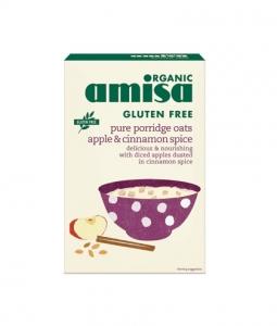 Porridge din ovaz cu mar si scortisoara fara gluten bio 300g Amisa