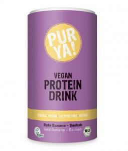 Proteina Pudra Banane Rosii Baobab Vegan Bio PURYA