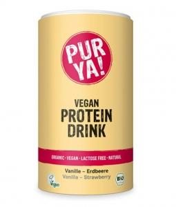 Proteina Pudra Vanilie Capsuni Vegan Bio PURYA 550g
