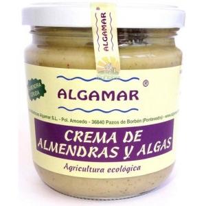Unt de migdale cu alge raw bio 320g Algamar