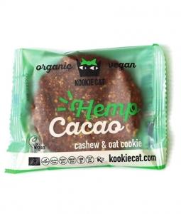 Kookie Cat - Cookie cu seminte de canepa si cacao fara gluten bio 50g