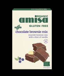 Mix pentru prajitura brownie fara gluten bio Amisa