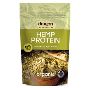 Pudra proteina din canepa raw bio 200g - Dragon Superfoods