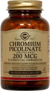 SOLGAR CHROMIUM PICOLINATE 200 MG 90 CPS