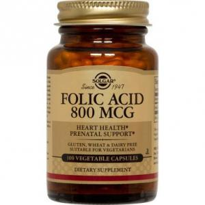 SOLGAR FOLIC ACID 800 MG TABS 100 TB