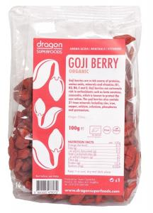 DRAGON SUPER FOODS GOJI BERRIES RAW BIO 100 GR